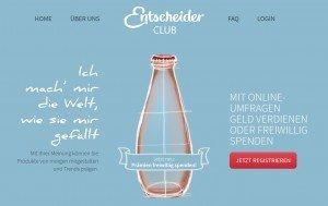 Entscheiderclub Online Umfrage